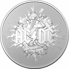Ac/Dc - 2021 $1 1 oz Pure Silver Frosted Coin - Royal Australian Mint