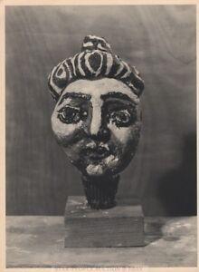 PABLO PICASSO - face ceramic * very rare HELIOGRAVURE * VERVE 1951