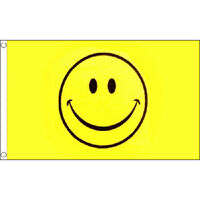 Smiley Face Flag 5Ft X 3Ft Happy Party Festival Smile Banner With 2 Eyelets New