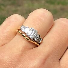 Platinum Gold 1.94 ctw VS F-G Diamond Engagement Ring Wedding Band Set Certified