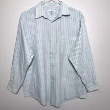 Vintage Yves Saint Laurent Mens Size XL Striped Long Sleeve Button Down Shirt
