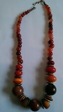 Copal Amber Antique African Trade Bead Necklace 106g