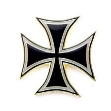 Iron Cross Black Maltese Cross Lapel Hat Pins FAST USA SHIPPING