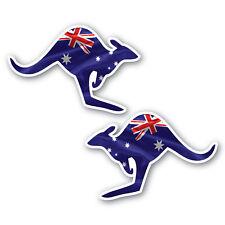 Aussie flag kangaroo stickers 2 pack 120mm water & fade proof vinyl oz pride