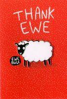 Thank Ewe Thank You Greeting Card Hello You Range Blank Inside