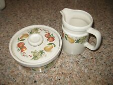 Wedgewood Quince Sugar Bowl and Creamer - very gently used