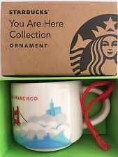 Starbucks Demitasse 2017 SAN FRANCISCO YAH You Are Here Mini mug Ornament 2oz