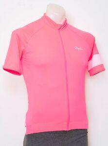 Rapha Core Short Sleeve Cycling Jersey Men MEDIUM Hi-Vis Pink Road Bike Gravel