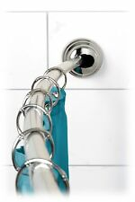 Zenna Home Rustproof Tension Curved Shower Rod Fits 50 - 72 in. Chrome-E35633SSP