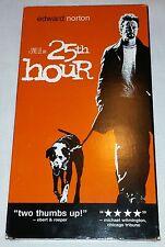 25th Hour (VHS, 2003) Edward Norton, A Spike Lee Movie!