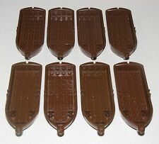 LEGO LOT OF 8 BROWN PIRATE BOATS WITH OARLOCKS SHIP ROWBOATS LIFEBOATS RAFTS