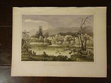 "Lithograph of ""ST IGNATIUS RIVER"" /John Mix Stanley /1860 Railroad Survey Report"