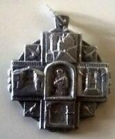 Medaglia San Francesco  antica con preghiera nel retro