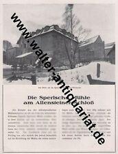Sperlsche Mühle Allenstein / Maschinen Roensch Ostpreußen Große Reklame v.1922