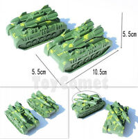 2 pcs Military Rocket Launcher Tank Model Toy Soldier Army Men Accessories