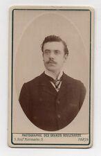 CDV Carte de visite Homme Photographie des Grands Boulevards Paris Vers 1900