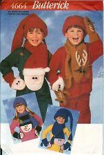 Butterick 4664 Child Mittens Scarf Hats Christmas Winter Pattern UNCUT NEW