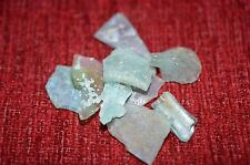 ANCIENT ROMAN GLASS  FRAGMENTS  ! 10.6 g 10 PCS  #0190