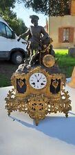 pendule XIXeme en bronze henry IX   Uhr Clock Reloj Orologio Relogio
