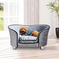 Canapé/Lit pour chien/chat avec accoudoir et dossier en peluche gris clair16