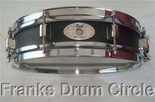 """Pearl 3""""x13"""" Black Steel Shell Piccolo Snare Drum (soprano/side/popcorn)"""