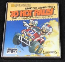 3D Hot Rally -Japanese Famicom Disk System *USA SELLER* Case, Artwork & Game