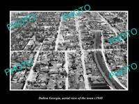 OLD LARGE HISTORIC PHOTO DALTON GEORGIA AERIAL VIEW OF THE TOWN c1940