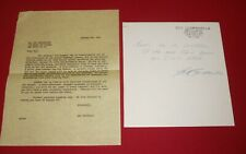 1967 Roy Campanella Old Timers Game Invitation and Response Letterhead signed