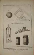 19 stampe antiche Polvere da sparo Diderot D'Alambert 1772 old prints gunpowder