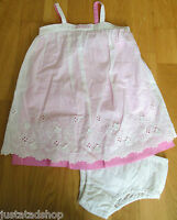 Juicy Couture baby girl lace white summer dress knickers 12-18 18-24 designer BN