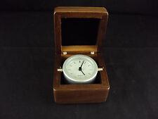 Mini Captain's Clock ~ Woodessen ~ Walnut, Solid Wood Case ~ Free Shipping!