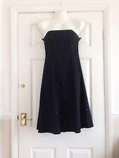 Jasper Conran Black Evening/ Prom Dress Size 10 Decorative Beading