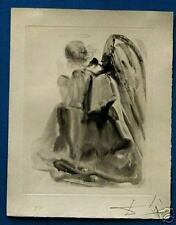 DALI SIGNED ETCHING DIVINE COMEDY HEAVEN CANTO 2 ANGEL