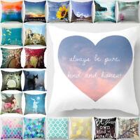 Cotton Linen Square Pillow Cases Throw Pillow Decor Home Sofa Car Cushion Cover