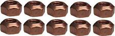 10 X M8 COPPER FLASHED EXHAUST MANIFOLD NUT 8MM NUTS HIGH TEMP BN16