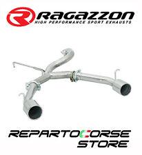 RAGAZZON SCARICO SDOPPIATO 2x70mm ALFA GTV 916 SPIDER 2.0 V6 TURBO 148kW 201CV