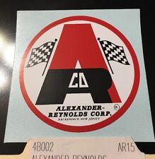 "Alexander Reynolds Corp. ARCO mini bike decal 3"" red, white & black CD"