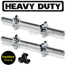"""14"""" Dumbbell Bars Pair Chrome Workout Weights Lifting 14inch Dumbbells Bar Gym"""