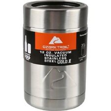 2 Ozark Trail-12 ounce Vacuum Insulated Stainless Steel Coozie with Metal Gasket