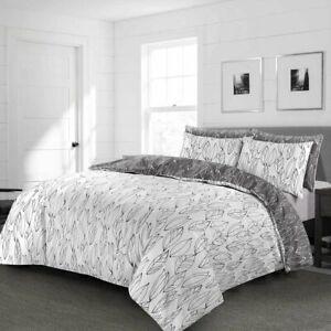 Reversible Duvet Cover 3 Pcs Set Pillowcase Quilt Cover Rich Cotton Bedding Set