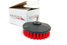 (Coarse) Rotary Drill Brush Attachment: Carpet, Boat Hulls, Grout, Showers - Red
