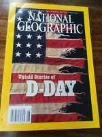 National Geographic Magazine Untold Stories of D-DAY World War II June 2002