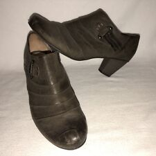 Gabor Women's Size 7 Brown Leather Ankle Booties