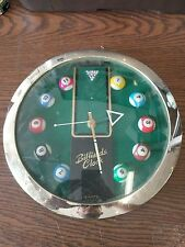 Billiards clock 13 inch