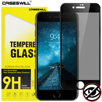 For iPhone 8 7 6s 6 Plus Full Coverage Tempered Glass Privacy Screen Protector