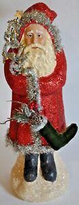 "RAZ Imports - NEW- 16"" SANTA WITH RED GLITTER ROBE - Christmas/Holiday"