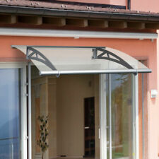 Outsunny Door Awning Porch Window Bracket Front Back Rain Cover 120 X 90cm