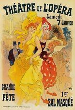 AP63 Vintage Opera Theatre Masqurade Cheret Advertisement Poster Card Print A5