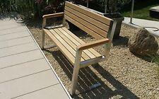 Gartenbank Edelstahl - Holz