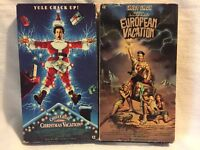 VHS Lot - NATIONAL LAMPOON'S EUROPEAN & CHRISTMAS VACATION - Chevy Chase